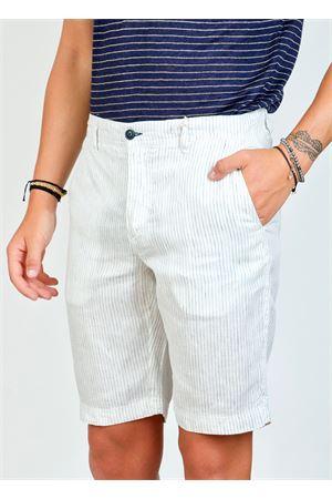 White linen bermuda shorts  Ganesh | 5 | GI272MBIANCO