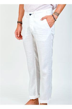 Pantalone da uomo in lino bianco Ganesh | 9 | GU164MBIANCO
