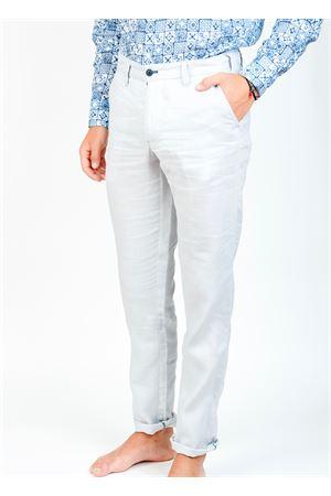 Pantalone uomo in lino grigio Ganesh | 9 | GU164MGRIGIOCHIARO