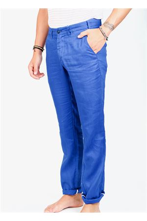 Royal blue linen pants for men  Ganesh | 9 | GU164MROYALBLU
