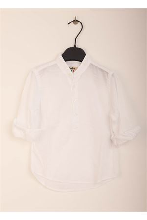 Cotton shirt with korean neckline for boy Nupkeet | 6 | NUP210BIANCO