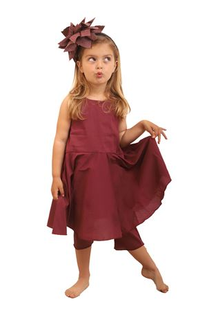 Bordeaux jumpsuit for girl  Orimusi | 19 | ORI622BORDEAUX