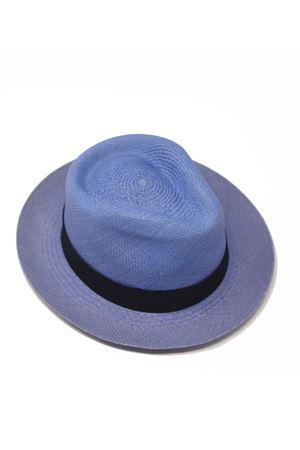 Blue straw hat Panama style  Panizza 1879 | 26 | PANAMAAZZURRO