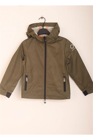 Military green windproof jacket for kids Sun