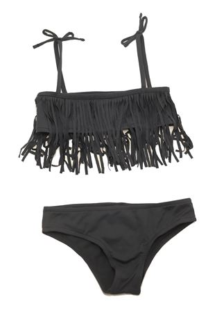 Anthracite bikini with fringes Yporque | 85 | YP125SHARK