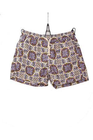 Majolica pattern swimsuit Aram Capri | 85 | ACBM049ARANCIONE