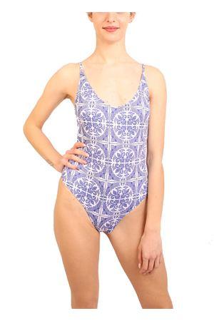 White majolica swimsuit Aram Capri | 85 | ACIM019BIANCO