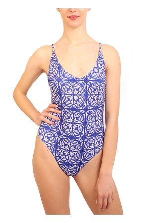 Blue majolica swimsuit Aram Capri | 85 | ACIM029BLU