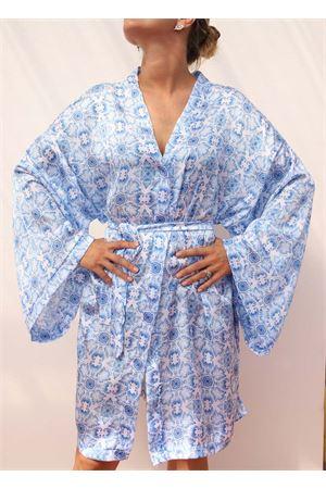 silk kimono with majolica Aram Capri | 5032262 | ACKCP21CELESTE