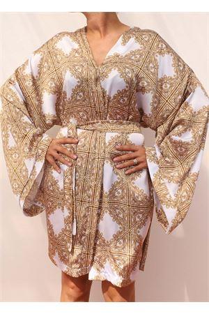 kimono cover-up with baroque print Aram Capri | 5032262 | ACKCV21BIANCO