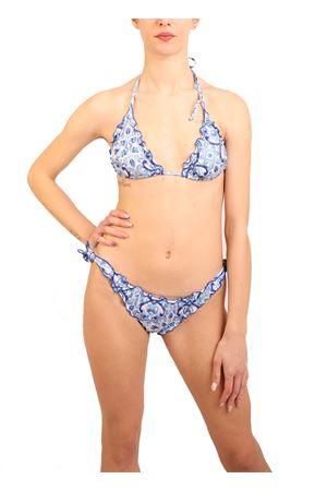 Bikini with lightblue majolica Aram Capri | 85 | ACTR059BIANCO