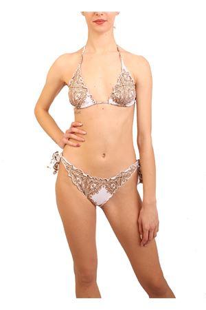 Baroque pattern bikini Aram Capri | 85 | ACTR259BAROCCOBIANCO