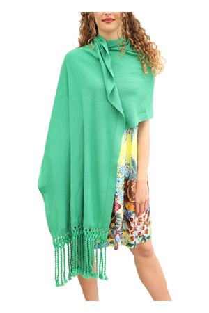 Stola verde elegante  in lana Art Tricot | 61 | STOLAFRANGIAVERDE