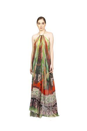 Long elegant silk dress with neckline Blanche Capri Couture | 5032262 | ABITOAURORAARANCIONE