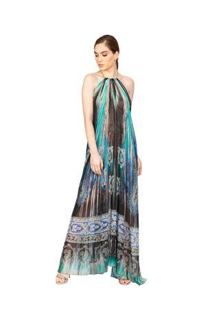Long elegant silk dress with bare back Blanche Capri Couture | 5032262 | ABITOAURORAAZZURRO