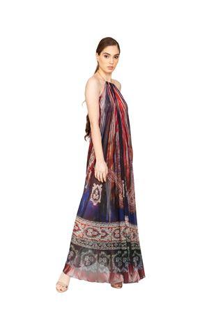 long silk dress with wide neckline on the back Blanche Capri Couture | 5032262 | ABITOAURORAROSSO