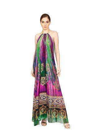 elegant sleeveless silk dress with neckline Blanche Capri Couture | 5032262 | ABITOAURORAVIOLA