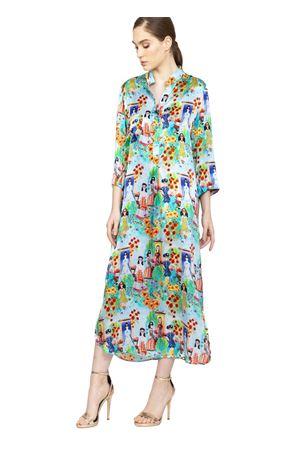 chemisier in glamorous fantasy silk Blanche Capri Couture | 5032262 | ABITOJACQUELINEMULTICOLOR