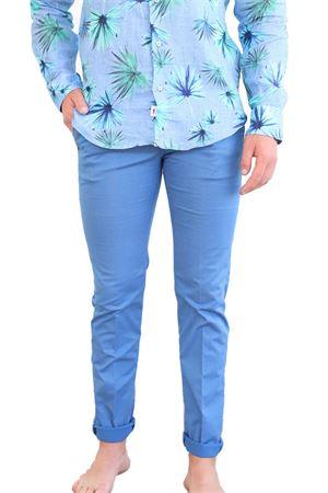 pantaloni uomo azzurro con zip Camouflage | 9 | CHINOSREYBLUCALIFORNIA