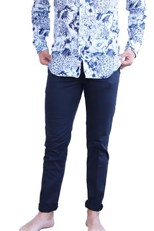 pantaloni uomo blu con zip Camouflage | 9 | CHINOSREYBLUNOTTE