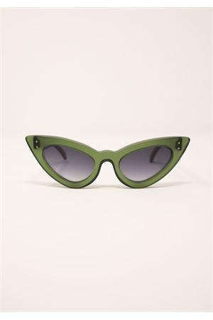 occhiali da sole modello cat eye verde scuro Capri People | 53 | SAMANTAVERDEDARK