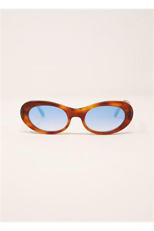 occhiali da sole tartarugato scuro con lente blu specchiata Capri People | 53 | TRAGARA2TARTABLUSPECCH