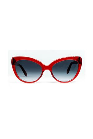 Red sunglasses for woman in capri style  Cimmino Lab | 53 | MATERITAACETATOROSSO