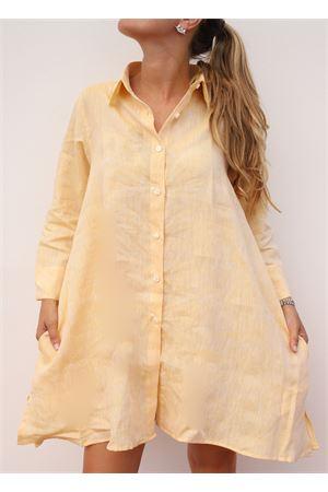 camicia svasata gialla in lino Colori Di Capri | 6 | SVASATAGIALLO