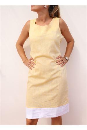 yellow linen dress Colori Di Capri | 5032262 | TUBINOPIGNAGIALLO
