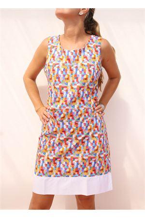 100% cotton tailored sheath dress Colori Di Capri | 5032262 | TUBINOPIGNAMULTICOLOR