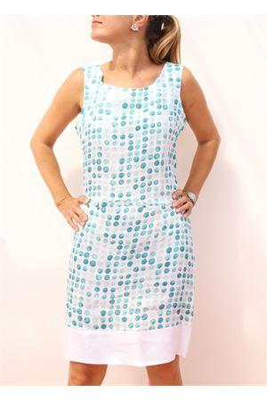 tailored sheath dress with green polka dots Colori Di Capri | 5032262 | TUBINOPIGNAPOISVERDE