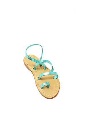 sandali capresi da bambina verde laminato Cuccurullo | 5032256 | 3FASCEALLUCEBVERGE