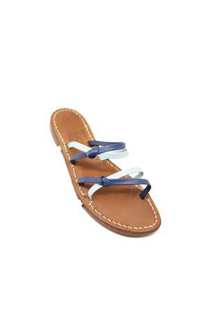 Capri sandals not flip flops blue and aqua Cuccurullo | 5032256 | CIABATTANODIBLUAZZURRO