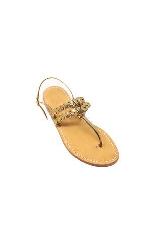 Bronze Capri sandals with double braid Cuccurullo | 5032256 | DOPPIATRECCIANODOBRONZO