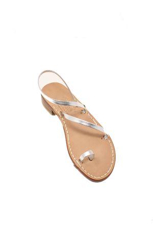 Silver Capri sandals with heel Cuccurullo | 5032256 | FASCEALLUCEARGENTO