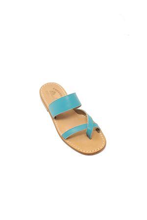 Turquoise Capri sandals for children Cuccurullo | 5032256 | INCROCIOFASCIAVERDETURCHESE