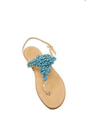 sandali estivi con decorazione di coralli azzurri Cuccurullo | 5032256 | SANDALICONCORALLIBLU