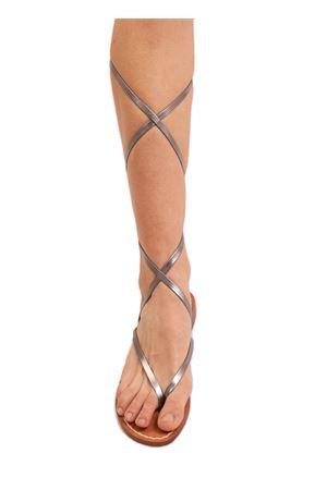 Laminated slave sandals for girl Cuccurullo | 5032256 | SANDALISCHIAVABABYACCIAIO