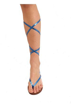 Laminated slave sandals for girl Cuccurullo | 5032256 | SANDALISCHIAVABABYBLULAM