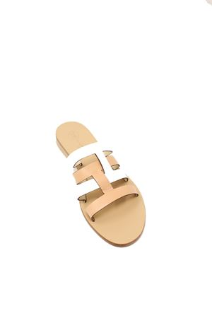 Capri sandals with intertwined bands Da Costanzo | 5032256 | 2900NATURALEBIANCO