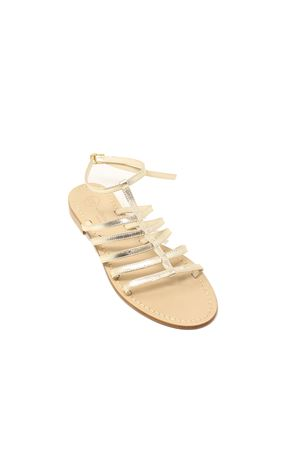 High ankle platinum Capri sandals Da Costanzo | 5032256 | 2942PLATINO