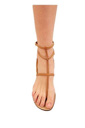sandali capresi con fasce marroni Da Costanzo | 5032256 | 3CINTURINICUOIO