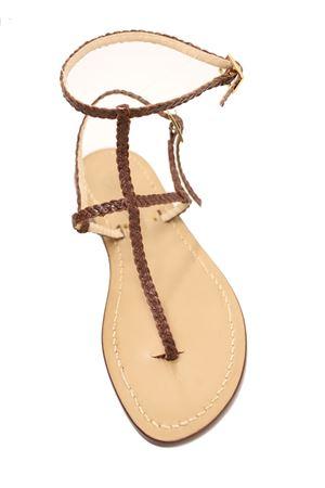 Handmade sandals with brown braids Da Costanzo | 5032256 | 3CINTURINITRECCINEMARRONE