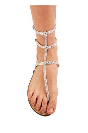 sandali capresi alla caviglia argentati Da Costanzo | 5032256 | 3CINTURINIVIPERINAARGENTO