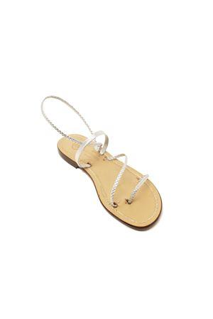Sandali capresi argentati Da Costanzo | 5032256 | 3FASCECAVIGLIAARGENTO