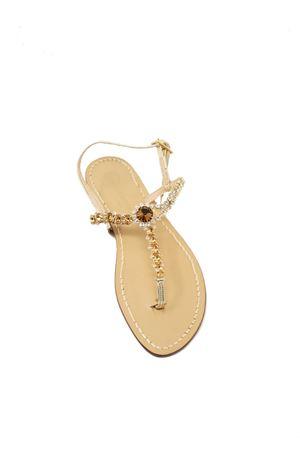 Sandali con Swarovski bronzo Da Costanzo | 5032256 | BOTTONEGIOIELLOBRONZO