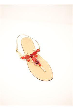coral-colored jewel sandals Da Costanzo | 5032256 | CORALJEWELCORAL