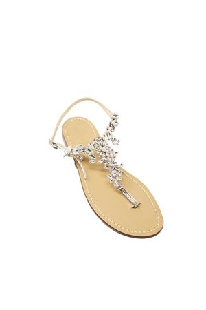 sandali capresi fiore gioielli argento Da Costanzo | 5032256 | FIORECENTRALEARGENTO
