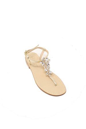 Sandali capresi gioiello platino Da Costanzo | 5032256 | FIORIX2ORO