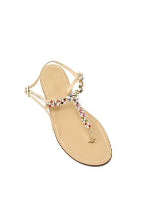 Flat  colored jewel sandals Da Costanzo | 5032256 | GIOIELLIOVALIMULTI